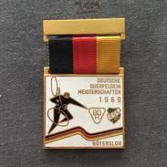 Badge (Pin) ZN006161 - Bicycle (cycling) Germany Cross Country Championships Gütersloh 1969 - Cycling