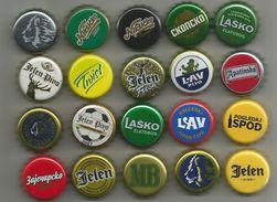 20 Different Beer Caps - Cerveza