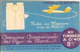 FRANCE - BOOKLET/CARNET - 1926 Cérès 61, Yvert 193-c1, .20x40c Brown - Freimarke