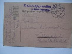 AUSTRIA - 1915 Feldpostkarte - K.u.K. Komb. Feldjagerbataillon Schenk - Feldpostamt 603 - Covers & Documents