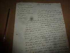 1818 CIRCULAIRE Aux Tribunaux,etc, Pour Exemple De La Manière De Faire Les Retenues Proportionnelles,suite à Défauts,etc - Manuscrits