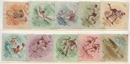 HUNGARY-1953. AIR - Sport - People's Stadium/Wrestling,Box,Soccer,Swimming Cpl.Set II. USED!! Mi 1320-1329 - Ungheria