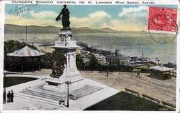 Kanada - QUEBEC - CHAMPLAINS MONUMEMT Overlooking The St.Lawrence River, Seltene Frankierung, R.E.C.P Marke - Sonstige