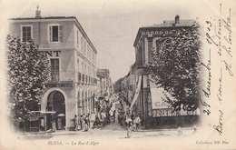 BLIDA - La Rue D'Alger, Gel.1904 - Blida