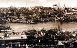 CONSTANTINOPLE - Vue Panoramique De La Corne D'or, Fotokarte 1920? - Türkei