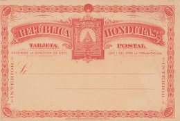 HONDURAS Um 1900? - 2 Centavos Ganzsache ** Auf Sehr Schöner Schmuck-Postkarte - Honduras