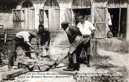 Ecole Des Frères Maristes (Kongo, Stanleyville) - Cerlage D'une Roue à La Forge, 191? - Kongo - Brazzaville