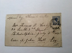 """DANISH WEST INDIES 1905 25 BIT  FREDERIKSTAD 1906 Cover > USA """"Opened By T.A.Carter"""" (DWI Lettre Denmark - Denmark (West Indies)"""