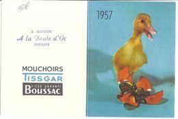 TISSGARD  1957  SATURNIN - Calendars