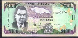 Jamaica 100 Dollars 2007 UNC P-84c - Giamaica