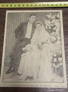 ANNEES 30 AVIS DE MARIAGE MAES WATTEL - Collezioni