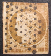 LOT R1537/52 - CERES N°1a Bistre-brun - SUPERBE ETOILE MUETTE DE PARIS - Cote : 450,00 € - 1849-1850 Ceres