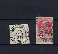 N°74 (ntz) GESTEMPELD AMBULANT Charleroi-Manage-Bruxelles COB € 0,75 + COBA € 30,00 - Poststempel