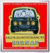 SUPER PIN'S RENAULT R8 GORDINI : RALLYE Du MONT-BLANC En 1992, Sponsor SERNAP (Metz) - Rallye