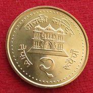 Nepal 2 Rupee 2003 UNCºº - Nepal