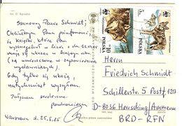 WWF  POLAND   Postcard, Wolfves  /  POLOGNE   Carte Postale En Couleurs, Loups - Stamps