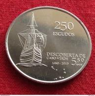Cape Verde 250 Escudos 2010 550 Years. Sail Ship Cabo Verde Unc - Cape Verde