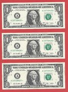 3x STARNOTE ° 1 US-Dollar 2009 ° 1.920.000 RunSize ° Sehr Guter Zust. ° A10739425 > 427* Fortlfd. ($027-01) - RAR - Errors