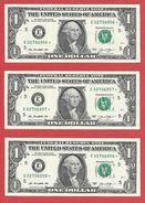 3x STARNOTE - 1 US-Dollar 2013 – E 02706956 Bis 958* Fortlfd. - Sehr Guter Zustand - RunSize: 3.200.000 (A028) - Errors