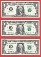 3x STARNOTE ° 1 US-Dollar 2013 ° 3.200.000 RunSize ° Sehr Guter Zust. ° E02706956 > 958* Fortlfd. ($028-01) - Errors