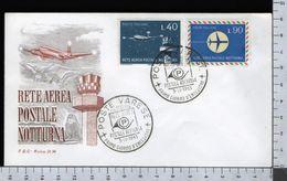 C2907 Busta FDC 1965 RETE AEREA POSTALE NOTTURNA 2 VALORI ROMA (m) - 1946-.. République