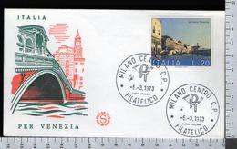 C2916 Busta FDC 1973 SALVIAMO VENEZIA Lire 20 FILAGRANO (m) - 6. 1946-.. Repubblica