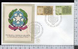 C2926 Busta FDC 1977 PROPAGANDA FEDELTA CONTRIBUTIVA 2 VALORI FILAGRANO (m) - 1946-.. République