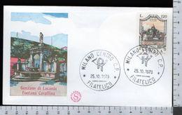 C2934 Busta FDC 1978 FONTANE GENZANO DI LUCANIA FONTANA CAVALLINA Lire 120 FILAGRANO (m) - 1946-.. République