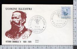 C2947 Busta FDC 1978 UOMINI ILLUSTRI VITTORIO EMANUELE II Lire 170 ROSSETTI (m) - 1946-.. République
