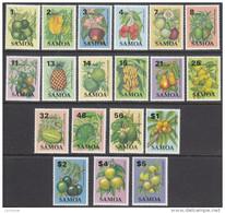 SAMOA, 1983 FRUIT DEFINS 19 MNH - Samoa