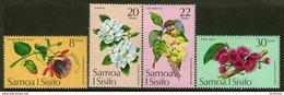 SAMOA, 1975 FLOWERS 4 MNH - Samoa