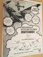 Page De Revue Des Années 70/80 : MAQUETTE PLASTIQUE MATCHBOX SUPERMARINE SPITFIRE , Format  Page A4 - Airplanes
