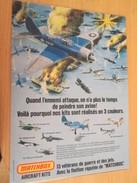 Page De Revue Des Années 70/80 : MAQUETTE PLASTIQUE MATCHBOX GRUMMAN AVENGER , Format  Page A4 - Airplanes