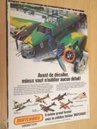 Page De Revue Des Années 70/80 : MAQUETTE PLASTIQUE MATCHBOX VICKERS WELLINGTON , Format  Page A4 - Airplanes