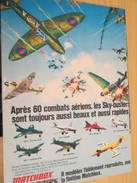 Page De Revue Des Années 70/80 : MODELES REDUITS MATCHBOX  AVIONS EN METAL SKY-BUSTERS , Format Page A4 - Airplanes & Helicopters