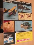Page De Revue Des Années 70/80 : MAQUETTE PLASTIQUE MATCHBOX AVIONS CHARS , Format  Page A4 - Military Vehicles