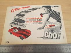 Page De Revue Des Années 60 : PUBLICITE LESSIVE CRIO VOITURES MINIATURES , Format 1/2 Page A4 - Collectors Et Insolites - Toutes Marques