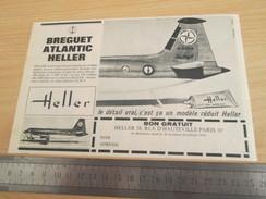 Page De Revue Des Années 60/70 : PUBLICITE MAQUETTES HELLER BREGUET ATLANTIC , Format 1/2 Page A4 - Airplanes