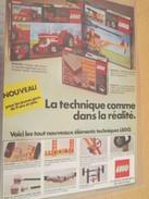Page De Revue Des Années 70 / PUBLICITE LEGO , Format  Page A4 - Other Collections