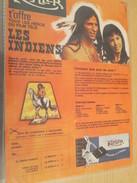 Page De Revue Des Années 70 / PUBLICITE CHOCOLAT KOHLER SERIE TELE LES INDIENS  PLAQUETTES METALLIQUES , Format  Page A4 - Other