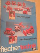 Page De Revue Des Années 70 / PUBLICITE JEU DE CONSTRUCTION GENRE LEGO : FISCHER TECHNIK , Format  Page A4 - Fischertechnik