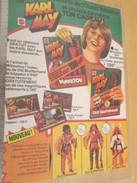 Page De Revue Des Années 70-80 / PUBLICITE POUPEES POUR GARCONS KARL MAY MATTEL WINNETOU , Format  Page A4 - Other Collections