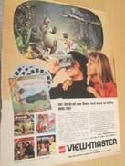 Page De Revue Des Années 60/70 / PUBLICITE VIEWMASTER LE LIVRE DE LA JUNGLE , Format  Page A4 - Autres