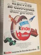 Page De Revue Des Années 60/70 / PUBLICITE KINDER LE CHOCOLAT SURPRISE  , Format  Page A4 - Other
