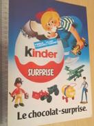 Page De Revue Des Années 70/80 / PUBLICITE KINDER LE CHOCOLAT SURPRISE  , Format  Page A4 - Kinder & Diddl