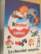 Page De Revue Des Années 70/80 / PUBLICITE KINDER LE CHOCOLAT SURPRISE  , Format  Page A4 - Otros