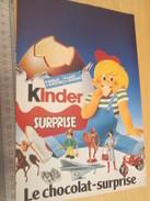 Page De Revue Des Années 70/80 / PUBLICITE KINDER LE CHOCOLAT SURPRISE  , Format  Page A4 - Diddl & Ü-Eier