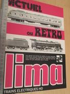 Page De Revue Des Années 70/80 / PUBLICITE TRAINS ELECTRIQUES LIMA  , Format  Page A4 - Trains électriques