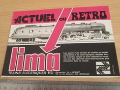 Page De Revue Des Années 70/80 / PUBLICITE TRAINS ELECTRIQUES LIMA  , Format 1/2  Page A4 - Other