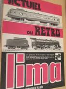 Page De Revue Des Années 70/80 / PUBLICITE TRAINS ELECTRIQUES LIMA  , Format  Page A4 - Books And Magazines